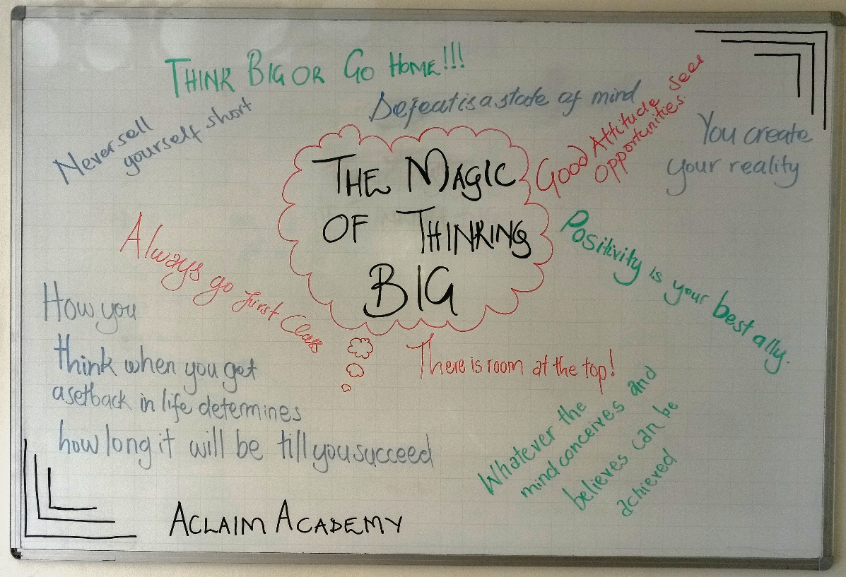 Highlights From The Magic Of Thinking Big Aclaim